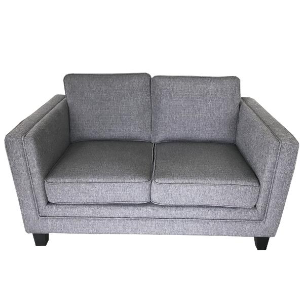 Dark Grey 2 Seater Square Arm Sofa