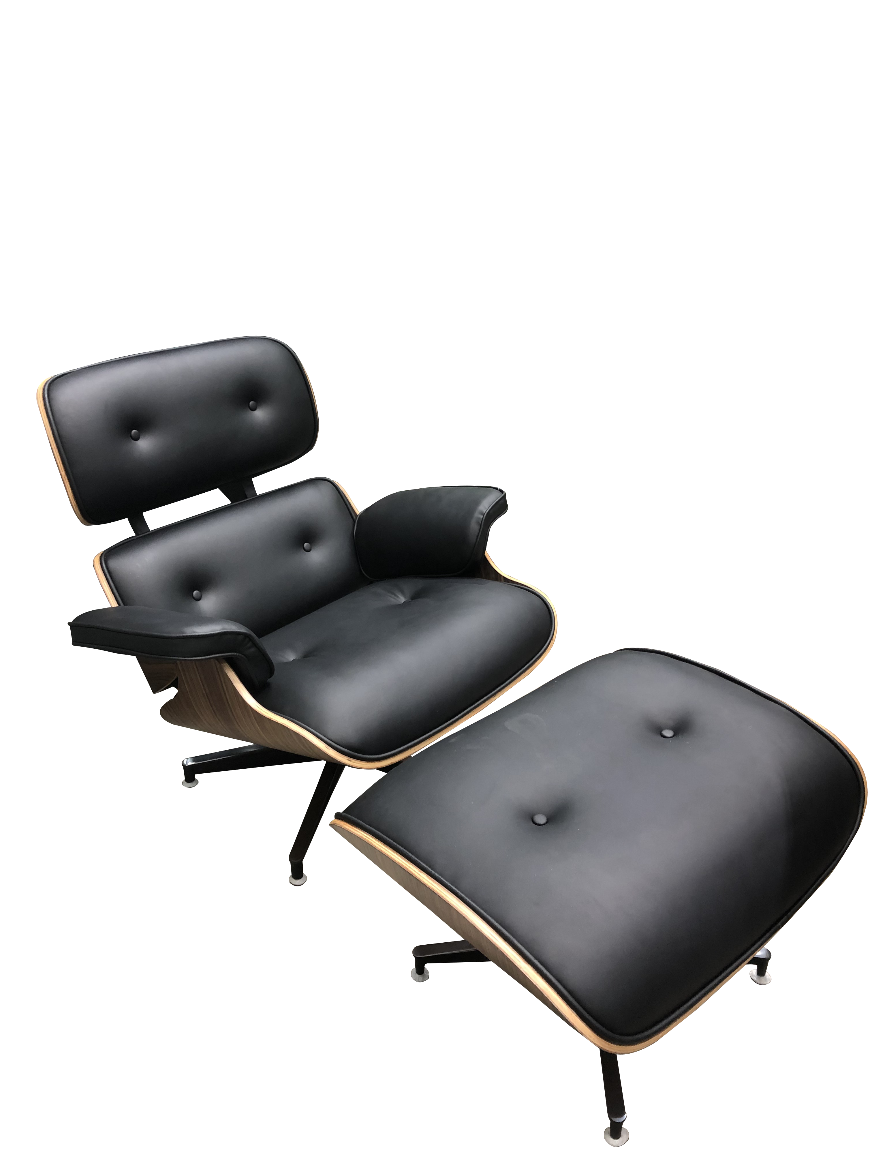 Magnificent Replica Eames Chair And Ottoman In High Quality Black Pu Camellatalisay Diy Chair Ideas Camellatalisaycom