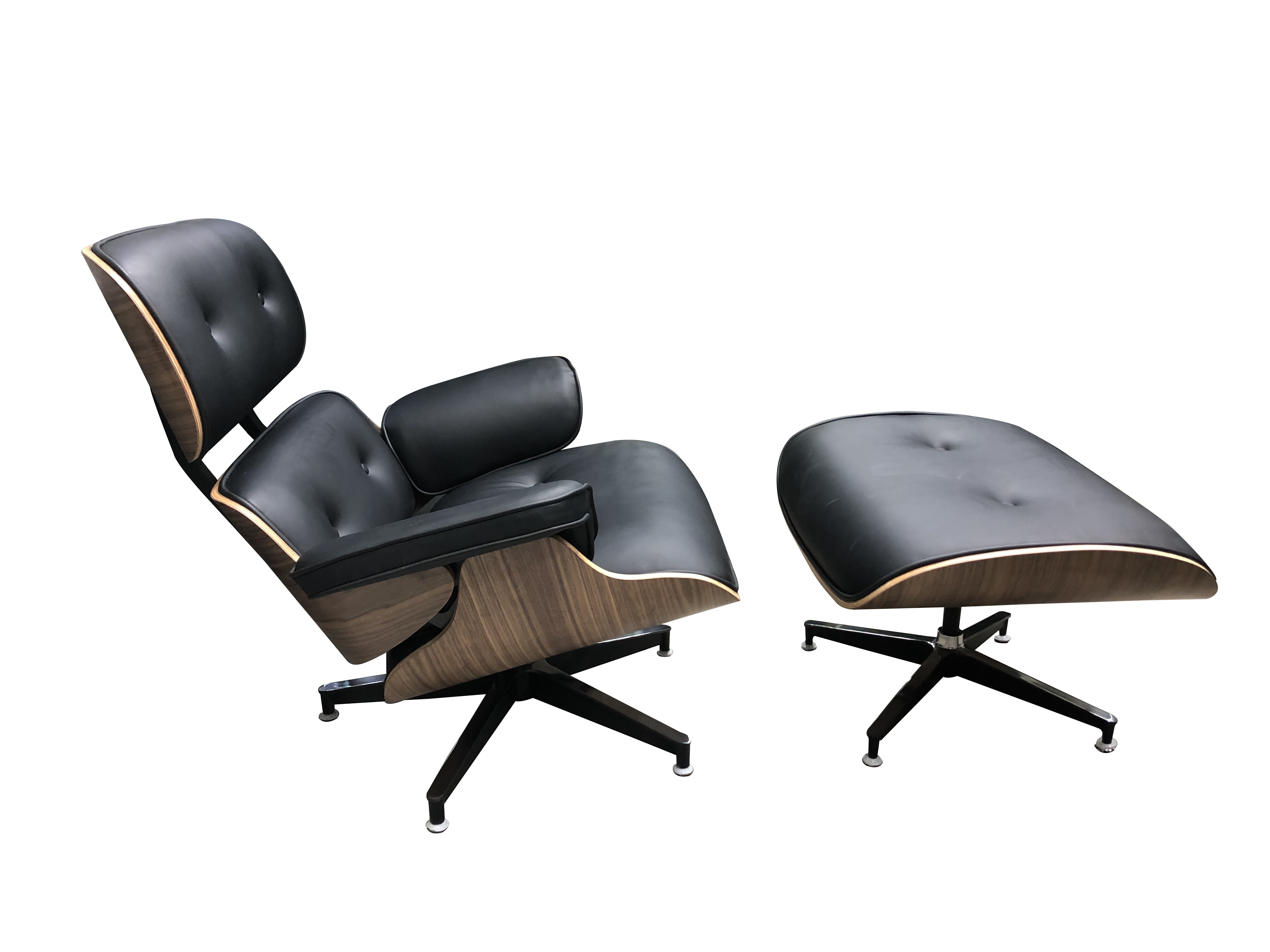 Pleasant Replica Eames Chair And Ottoman In High Quality Black Pu Camellatalisay Diy Chair Ideas Camellatalisaycom