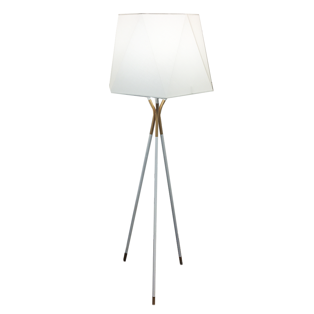 Tri Stem White Gold Floor Lamp Home Decor Lamps Interior Warehouse Lamp Metal White