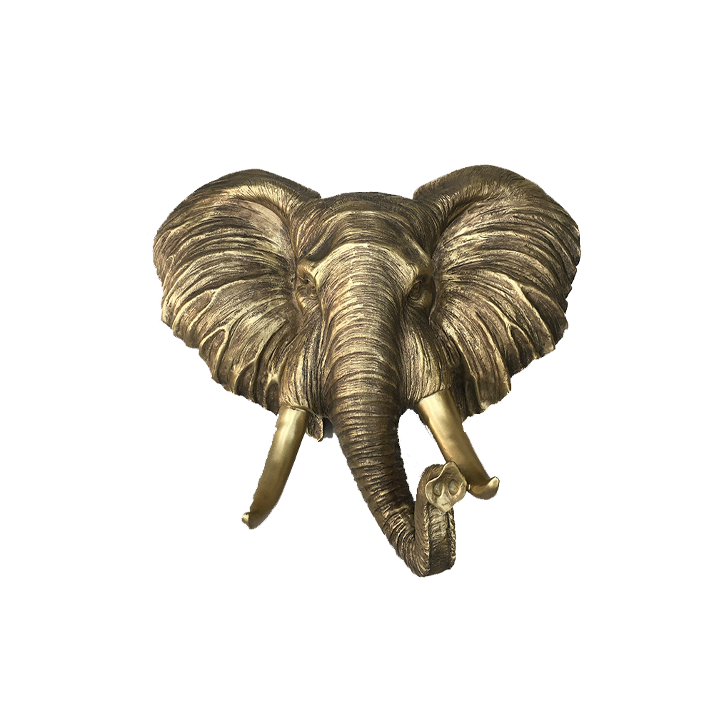 Aged Gold Elephant Head Home Decor Home Decor Accents Interior Warehouse Decor Resin Gold You can download in a tap this free elephant face transparent png image. aged gold elephant head home decor