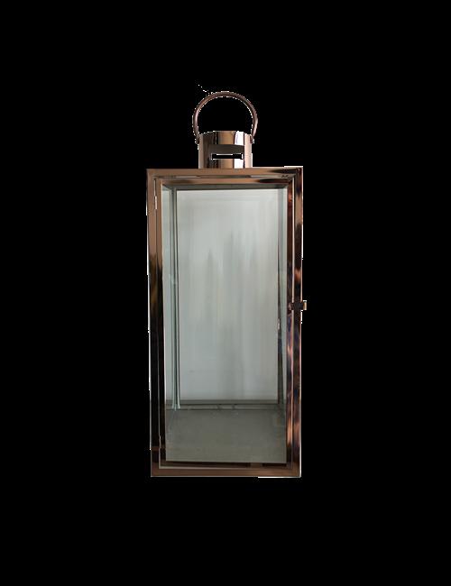 Large Rose Gold Metal Square Lantern Home Decor Home Decor Accents Interior Warehouse Lamp