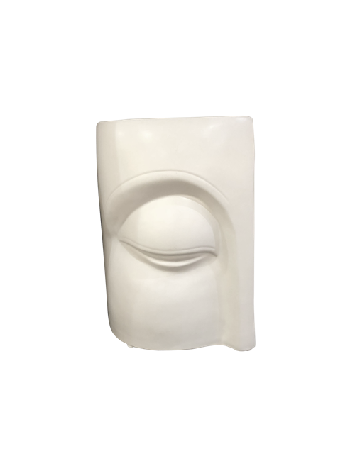 LARGE CERAMIC BUDDHA EYE VASE