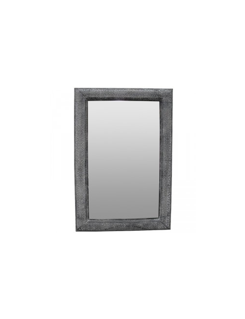 BLACK FILLIGREE METAL RECTANGLE MARRAKESH MIRROR
