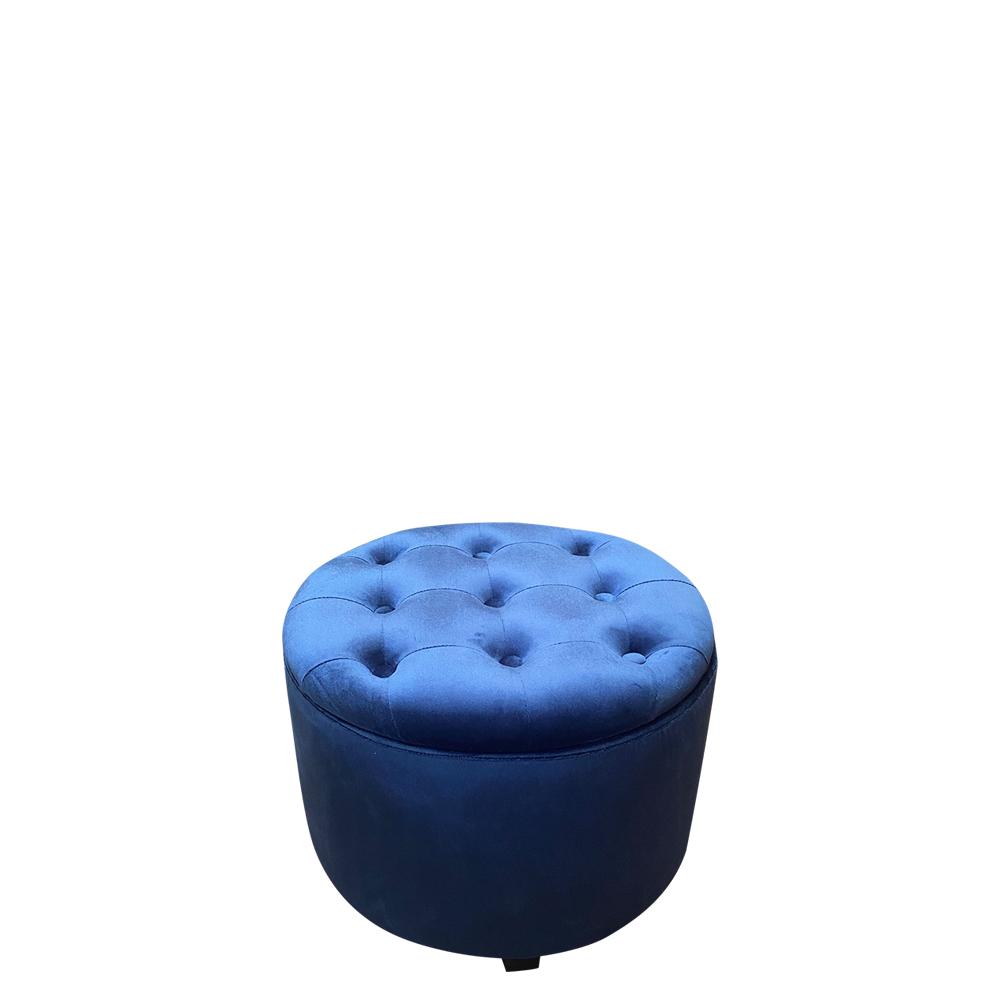 46cmd Dark Blue Velvet Storage Ottoman Furniture Bedroom Interior Warehouse