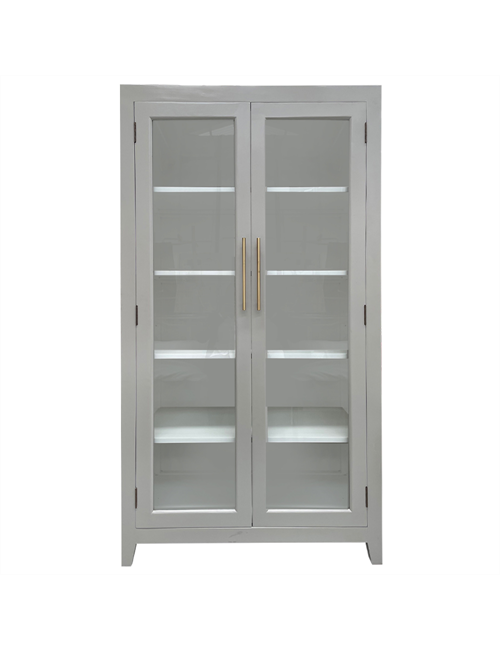JAMES ELM DISPLAY CABINET - WHITE
