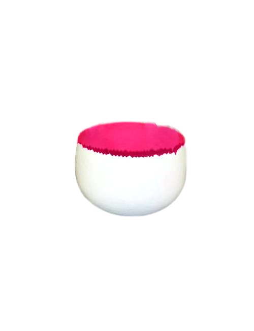 Hot Pink And White Bowl